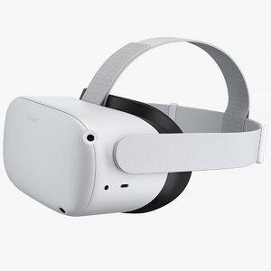 3D oculus quest 2 headset