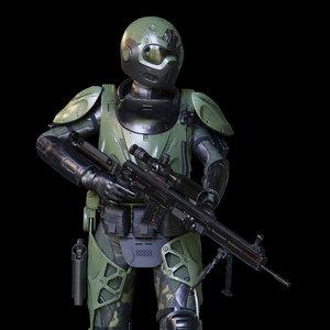 overall exoskeleton 3D model