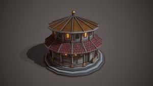 ancient temple saturn 3D
