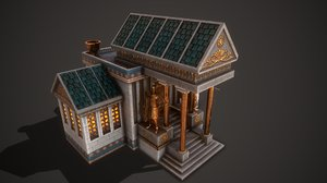 3D ancient town hall