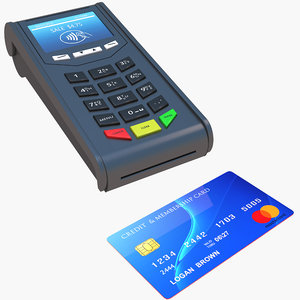 credit card pos terminal 3D model