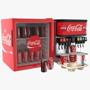 3D real coca cola appliances model