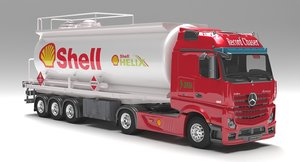 mercedes actros fuel tanker 3D model