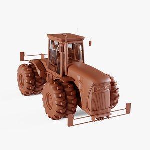 3D specialty tractor model