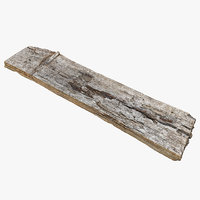 Wooden Realistic Plank 03