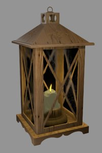 3D pbr lamp candle