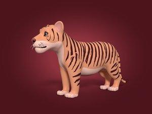 cartoon tiger cub model