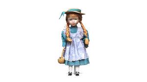 3D - porcelain doll ginger