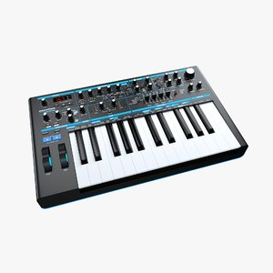 novation bass station ii 3D model