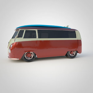 tunned camper t2 3D model