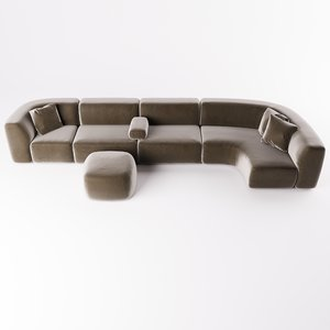 bo sofa piet boon 3D model