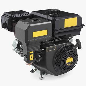 3D horizontal shaft gas engine model
