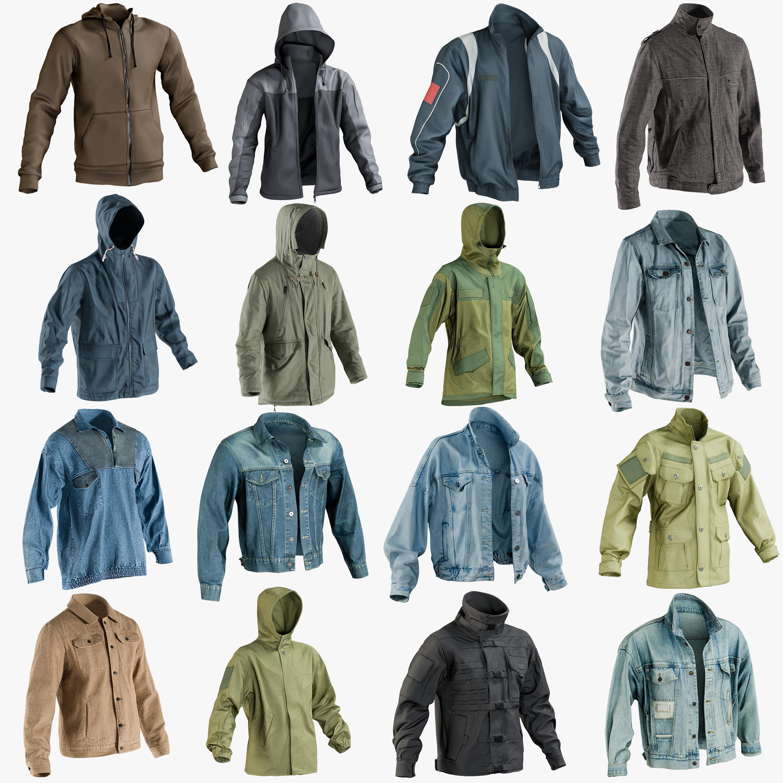 3D realistic jackets 1 coat model