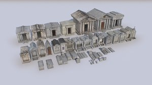3D cemetery mausoleums tombs 4