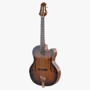 archtop guitar 3D model