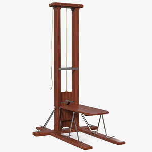 vintage french revolution guillotine 3D model