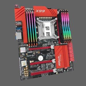 motherboard asrock memory 3D model