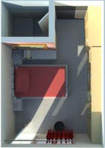3D studio room model