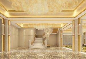 3D casino ballroom wedding banquet