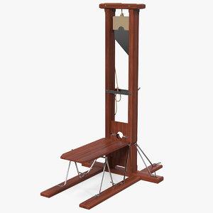 vintage european guillotine europe 3D model