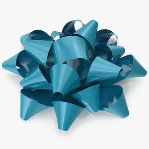 blue bow v 5 3D
