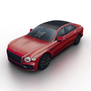 3D 2020 bentley flying spur model