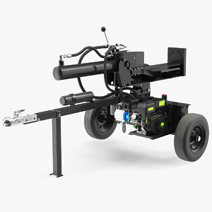 hydraulic lumberjack log splitter 3D