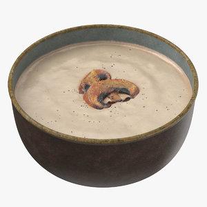 mushroom soup 3D