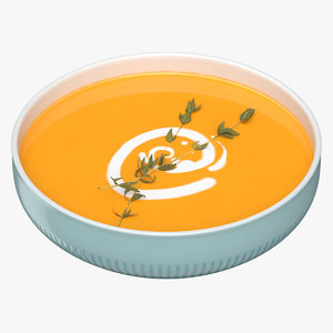 pumpkin soup 3D model