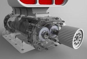 supercharger 3D model
