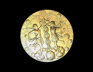 3D model gemini zodiac signs