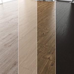 3D floor set 03 wood