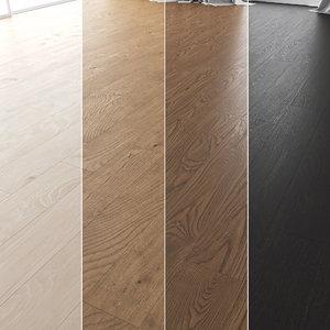 3D floor set 01 wood model