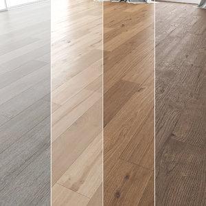 floor set 04 oak wood model