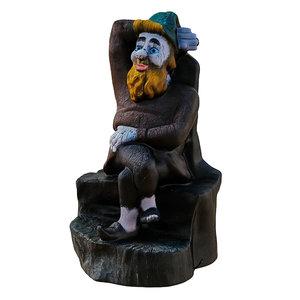 3D garden figurine gnome sitting
