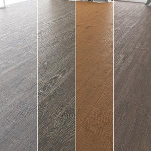 3D floor set 10 wood