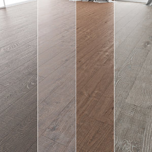 3D floor set 09 wood