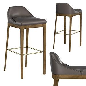 3D model bellagio bar stool art