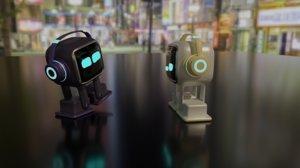 emo ai desktop robot 3D