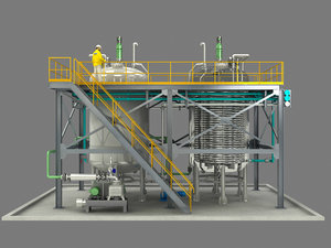 chemical plant petrochemical refining 3D