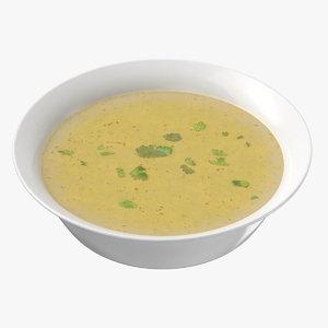 chicken soup 3D model