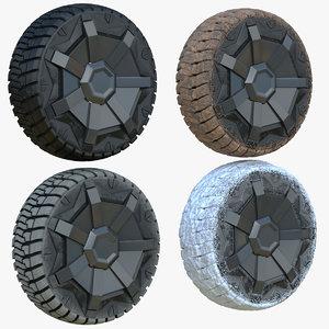 3D 4 seasons cybertruck wheels