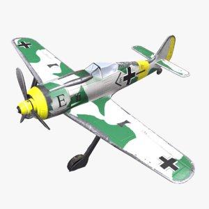 3D focke-wulf fw 190 pbr model