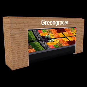 greengrocer stand 3D