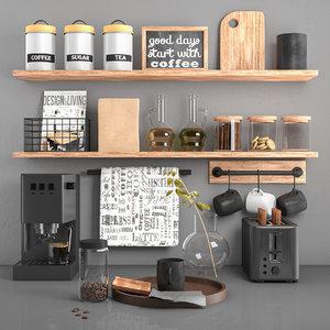 kitchen decor set toaster 3D model