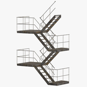 3D external staircase