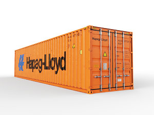 shipping container hapag-lloyd 3D model