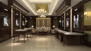 jewelry store interior 2 3D model