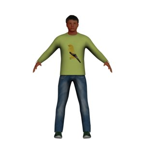 low-poly latino man 3D model