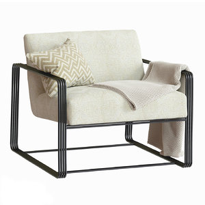 3D vince lounge chair frost